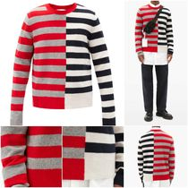 [HELMUT LANG] Contrast-striped wool sweater (送料関税込み)