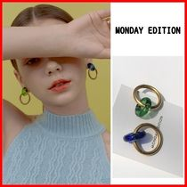 ☆MONDAY EDITION☆Donut Glass and Circle Earrings ピアス☆