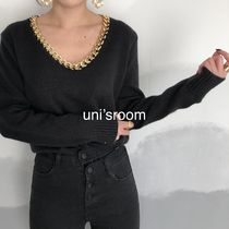 uni's room■2color チェーンデコレーションニット NT-AW20-01