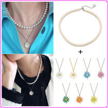 【VINTAGE HOLLYWOOD】Classic Pearl+Daisy Necklace〜2連セット