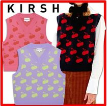 韓国の人気☆KIRSH☆ONE TONE CHERRY PATTERN KNIT VEST JA☆3色