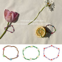 Vintage hollywood★Flower Garden Beads Bracelet