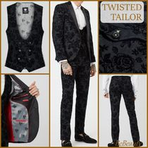 Twisted Tailor◆花柄スキニー タキシードスーツ 3点セット/送込