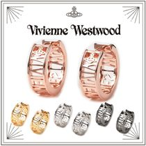 【Vivienne Westwood】透かし編み WESTMINSTER フープ ピアス