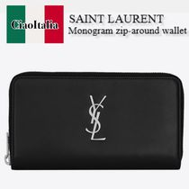 SAINT LAURENT MONOGRAM large wallet in smooth leather