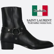 SAINT LAURENT Wyatt smooth boots(ハーフサイズ入荷あり)
