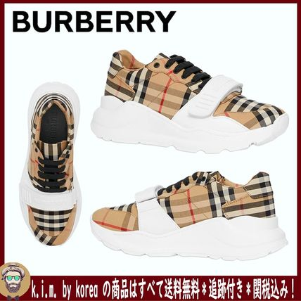<BURBERRY>VINTAGE CHECK COTTON SNEAKERS