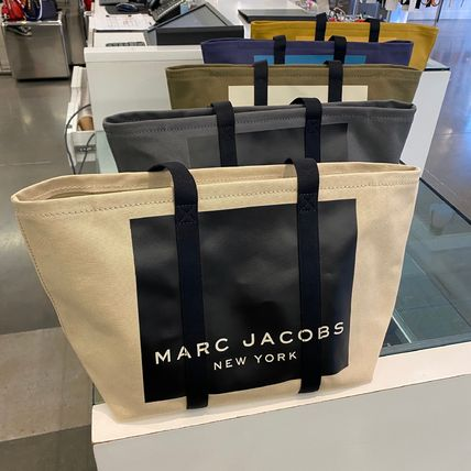 MARC JACOBS マザーズバッグ MARC JACOBS ロゴ キャンバス トート マザーズバッグ♪