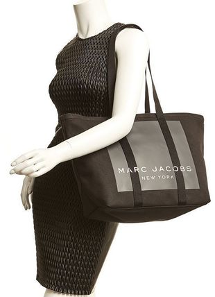 MARC JACOBS マザーズバッグ MARC JACOBS ロゴ キャンバス トート マザーズバッグ♪(7)