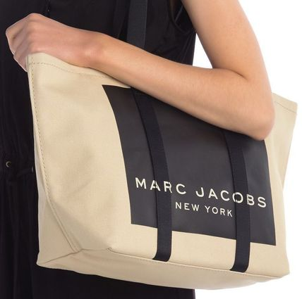 MARC JACOBS マザーズバッグ MARC JACOBS ロゴ キャンバス トート マザーズバッグ♪(11)