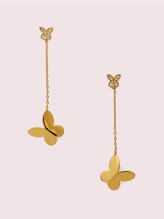 kate spade☆ in a flutter drop earrings バタフライ ピアス