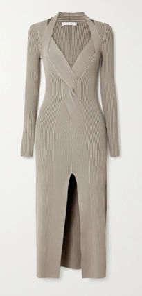 DION LEE ワンピース 送料関税込☆DION LEE Shadow cutout ribbed stretch-knit dress(2)