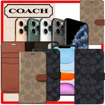 ★韓国の人気★ COACH ★FOLIO CASE★Iphone 11/PRO/PRO MAX★