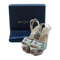 Sergio Rossi::Embroidery Sandals ハイヒール:36.5[RESALE]