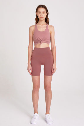 """[ INJIACTIVE ] FEEL FREE HIGH-RISE SHORT 6"""" PINK BROWN"""