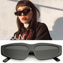 zeroUV(ゼロユーブイ) サングラス zeroUV*RetroFashion90sStyle Thick FramePlastic Rectangle Sun
