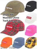 ★20AW WEEK1★Supreme Washed Chino Twill Camp Cap