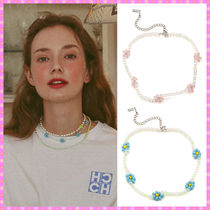 【VINTAGE HOLLYWOOD】Flower Beads Choker Necklace~ネックレス