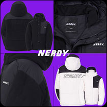 [ NERDY ]★20-21AW★Fleece Block Padded Jacket