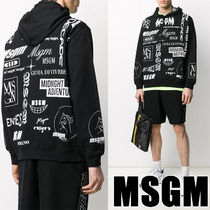 【MSGM】ALL OVER LOGO PRINT HOODED☆総柄☆追跡付