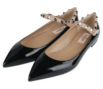 VALENTINO★rock studs flat shoes black【関税込EMS謝恩品】