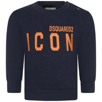 2020AW DSQUARED2 Baby ICONロゴスウェット NV (CP-36m)