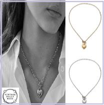 韓国『VINTAGE HOLLYWOOD』Love Lock Heart Necklace 2色