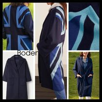 【Boden】UK発! Wilding Coat Navy/Union Jack ゆったり 膝下