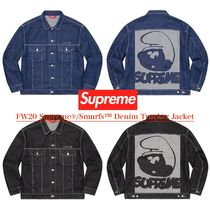 FW20 Supreme Smurfs Denim Trucker Jacket - スマーフ デニム