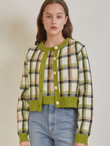 日本未入荷♡A CHECK JACQUARD KNIT SET/全3色/AMONG