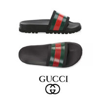 GUCCI Web Slide Sandals シャワー サンダル