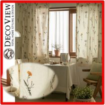 人気☆ DECO VIEW ☆Margaret Flower Lace Small Window Curtain