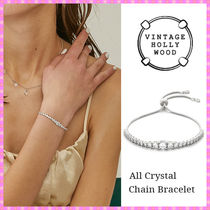 【VINTAGE HOLLYWOOD】All Crystal Chain Bracelet~ブレスレット