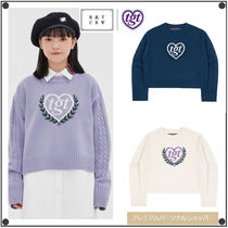 日本未入荷ROMANTIC CROWNの[TGT X RMTCRW]INTARSIA CROP KNIT