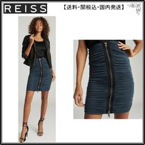 【海外限定】REISS スカート☆TAMARA ZIP DETAIL RUCHED PENCIL