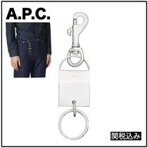 【A.P.C.】 関税込み ミニロゴ刻印入り キーチェーン
