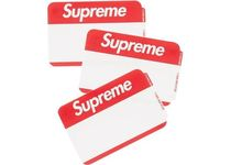 Supreme Name Badge Stickers  FW AW 20 WEEK 1