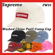 Supreme Washed Chino Twill Camp Cap  AW FW  20 WEEK 1