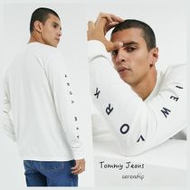 Tommy Jeans*フロント・バック ロゴ長袖Tシャツ*White*送料込