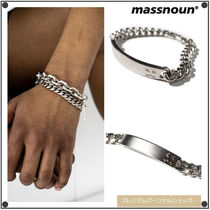 MASSNOUNのDIEBOY PLAT BAR CHAIN BRACELET