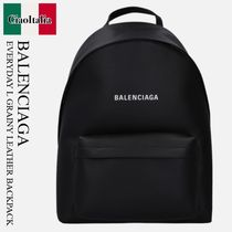 BALENCIAGA EVERYDAY L GRAINY LEATHER BACKPACK