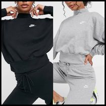 Nike essentials cropped mock neck sweatshirt