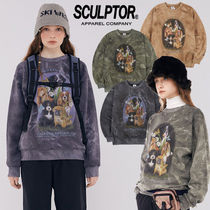★SCULPTOR★日本未入荷 韓国 Puppy Friends Tie-Dye Sweatshirt