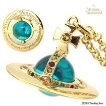 Vivienne Westwood☆New Small ORB ペンダント GOLD BLUE [即発]
