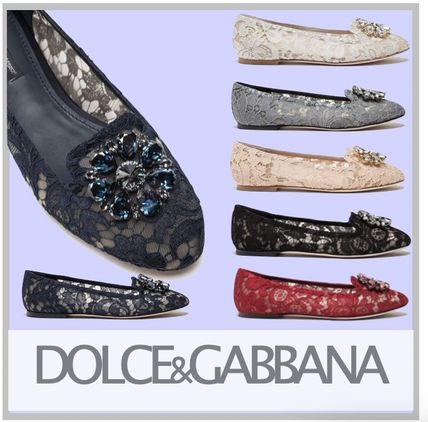 【Dolce&Gabbana】Slipper in taormina lace with crystals