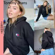 New!/Tommy Jeans/ロゴ*スウェット*フーディー/Black