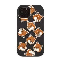 即配★MAISON KITSUNE IPHONE 11 PRO CASE 3D ALL-OVER FOX HEAD