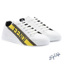 SNEAKERS BIANCHE レザー CON LOGO