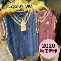 2020秋冬【5252 by OiOi】LOGO TWIST KNIT VEST 全4色