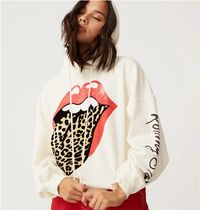 【DAY DREAMER】Rolling Stones Flocked Leopard Tongue Hoodie